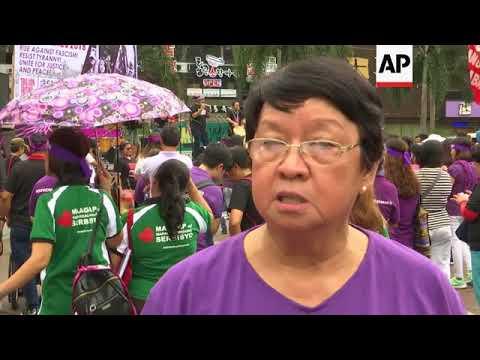 Dozens of women in demonstration calling for end to exploitation