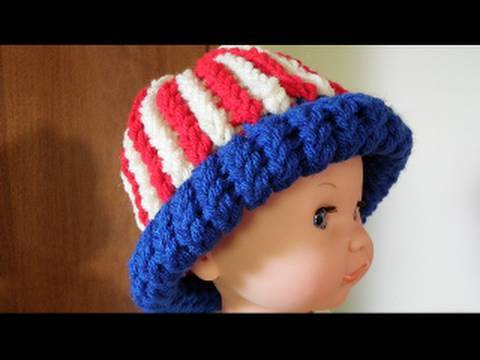 How to Loom Knit a Hat: Vertical Striped Hat