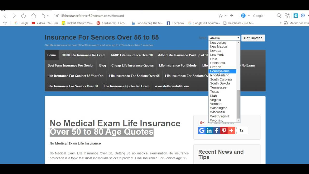 No Exam Life Insurance Quotes No Medical Exam Life Insurance Over 50 To 80 Age Quotes  Youtube