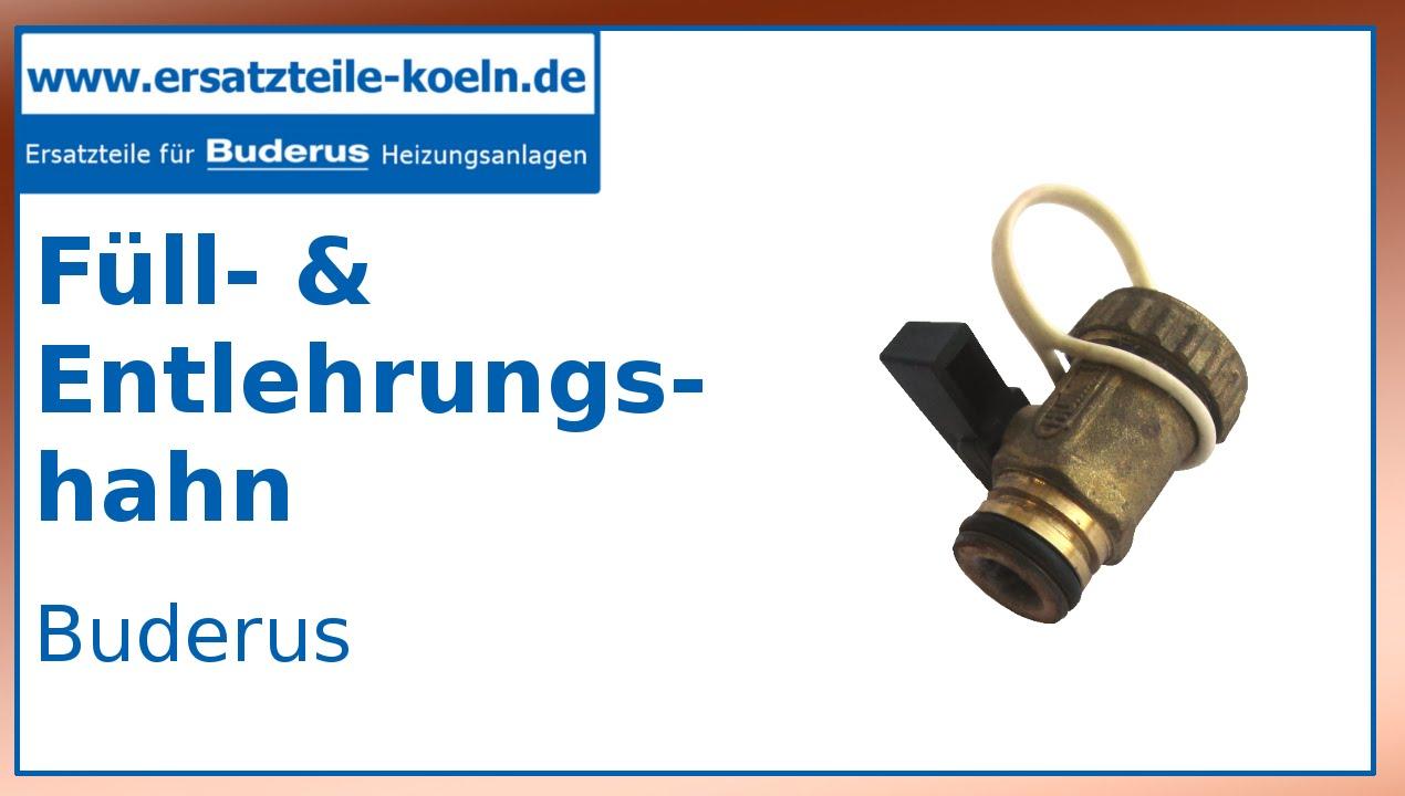 Junkers//Buderus//Sieger Ersatzteil Füll und Entleerungshahn schwarz