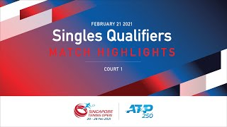 Match Highlights | M Viola 🇮🇹  vs 🇹🇷  A Celikbilek | ATP 250 Singapore Tennis Open 2021