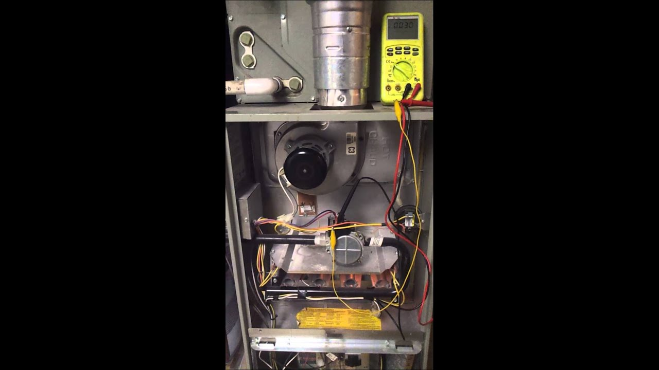 Bad Gas Valve Trane XR80  YouTube