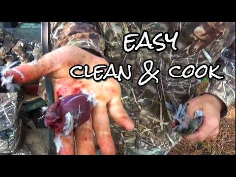 How to Clean & Cook Dove Poppers