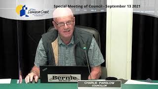 Special Meeting of Council - September 13, 2021 Medium (360p)
