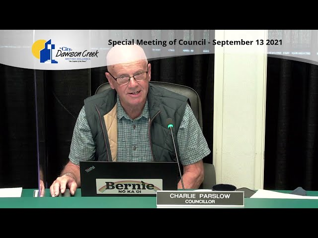 Special Meeting of Council - September 13, 2021 Standard quality (480p)