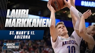 March Madness Highlights: Lauri Markkanen leads Arizona past Saint Mary's