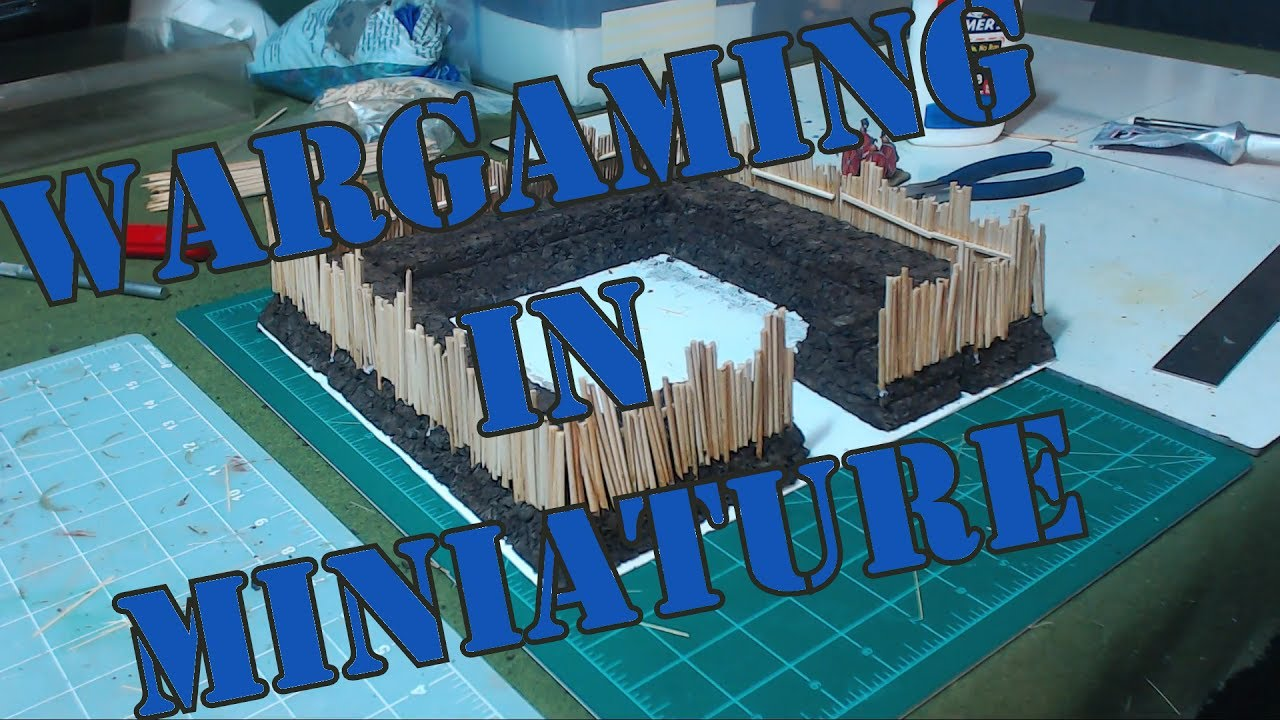 Wargaming in Miniature Building a 28mm Roman Marching Fort for Hail Caesar  Part 1
