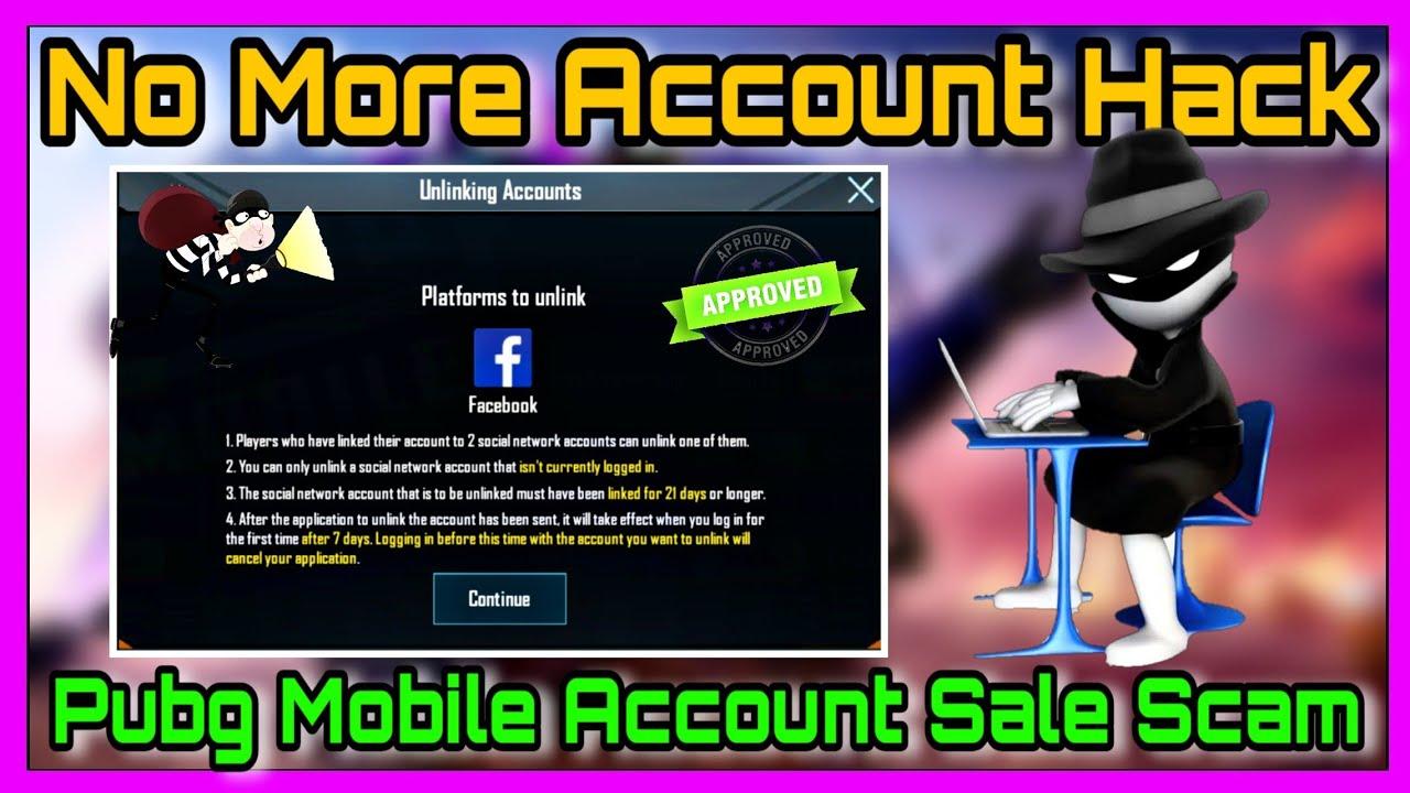 PUBG NO MORE ACCOUNT HACK|PUBG MOBILE ACCOUNT SALE | PUBG MOBILE UNLINK FEATURE |TYSON NOOB GAMER|