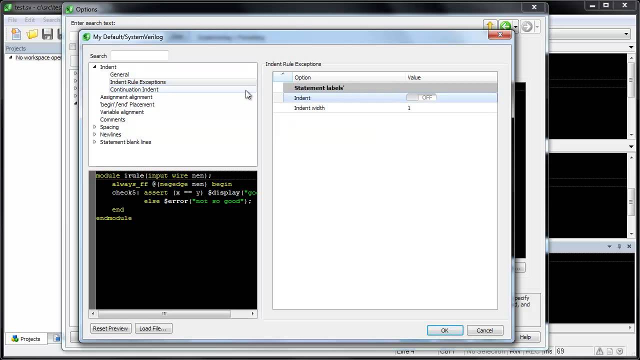 SlickEdit - Verilog/SystemVerilog Beautifier