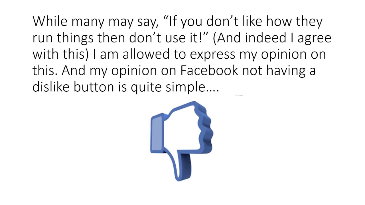 Download #ThumbsDown - Facebook needs a dislike button!