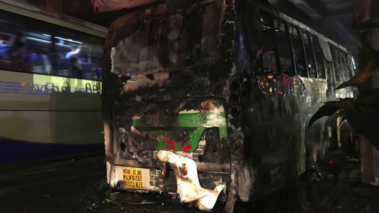 Passenger bus goes up in flames at Edsa – Shaw tunnel