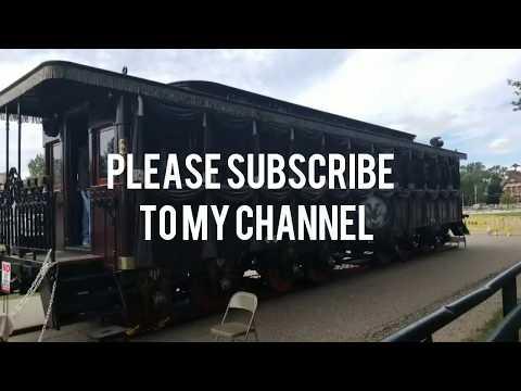 Replica Of Abraham Lincoln S Funeral Train Car 1865 Youtube