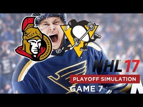 NHL 17 Playoffs Simulation -  Ottawa Senators @ Pittsburgh Penguins - Game 7