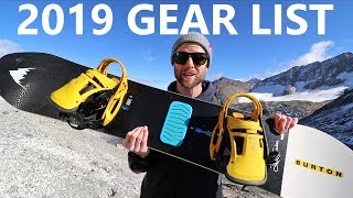 My 2019 Snowboard Gear List