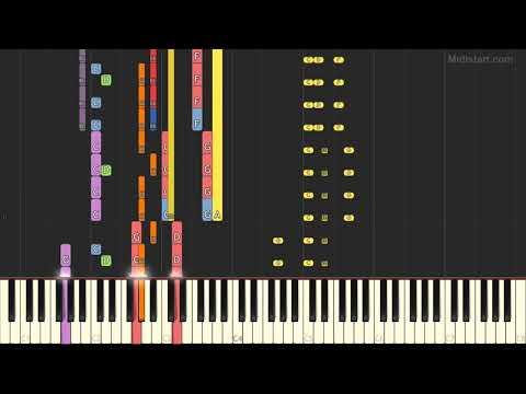 Calogero - Face A La Mer (Instrumental Tutorial) [Synthesia]