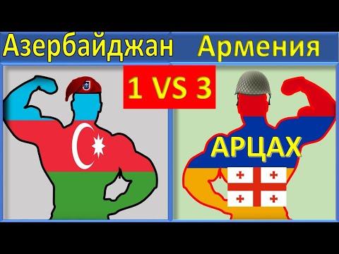 Азербайджан VS Армения Грузия Арцах (Нагорный Карабах) Сравнение Армии и Вооруженные силы