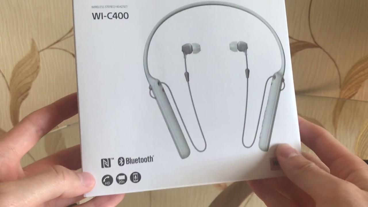 Обзор Bluetooth наушников Sony WI-C400. Сравнение с Samsung Level U