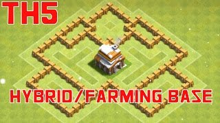 [New Update] Best TH5 Hybrid/Farming Base (With Replay) HD