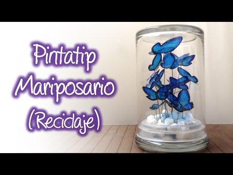 Mariposas de Plástico reciclado / Mariposario , Recycled plastic butterflies / Butterfly house