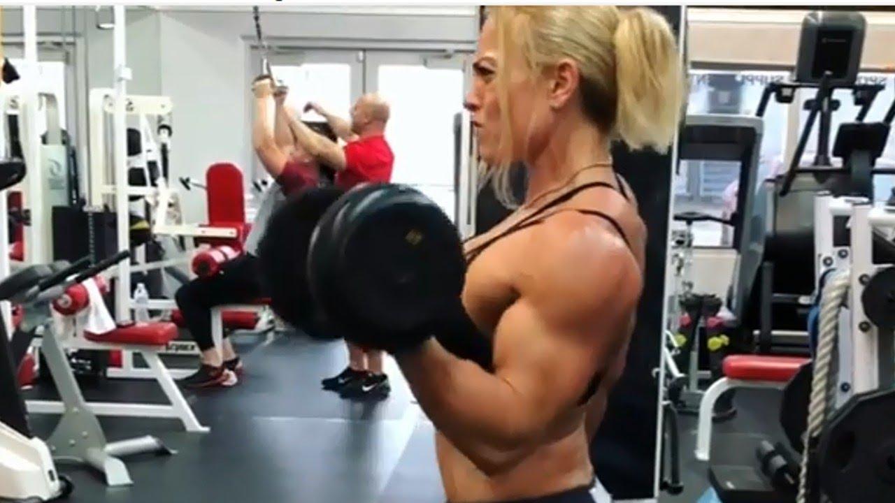 Dan Shemesh: Biceps Curls And Flexing Muscles