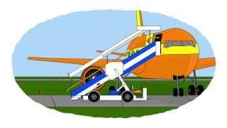 Мультик про самолеты и Аэромобили: Трап, Топливозаправщик, Тягач.