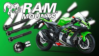 RAM B-367U Mount for Sports Bike Sat Navs TomTom Rider fitted to Kawasaki ZX10R