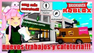 *NUEVOS SECRETOS* CAFETERIA, TRABAJOS Y CAMION DE ENTREGAS +LUGARES SECRETOS? en BROOKHAVEN ☕