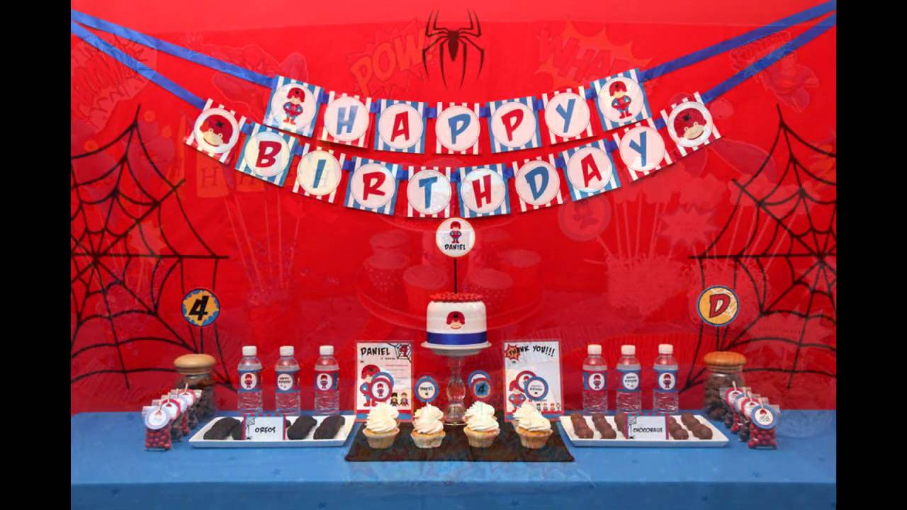 Spiderman birthday party decorations ideas YouTube