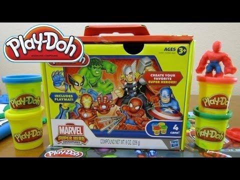 ספיידרמן, הענק הירוק (הולק) וקפטן אמריקה - משחק בצק