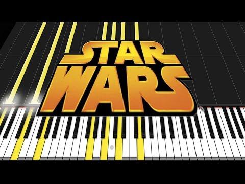 Star Wars Medley [Piano Tutorial] (Synthesia) // David Kaylor