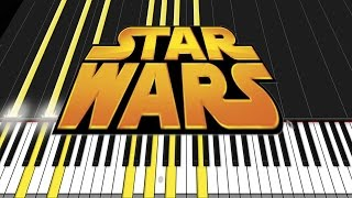 Star Wars Medley [Piano Tutorial] (Synthesia) // David Kaylor