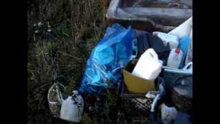 Pile of Trash Collected on Sandy Cove Beach, Digby Neck, Nova Scotia