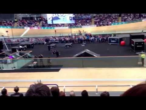 Danny Mackaskill at the Sir Chris Hoy Velodrome