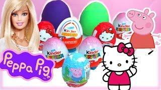 Kinder Surprise Eggs Barbie Play Doh Peppa Pig Spiderman Hello Kitty Egg