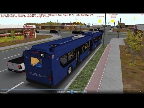 omsi 2 tour (1024) 底特律 Detroit Smart 125 Metro Airport - River Rouge @ NewFlyer Xcelsior XD40