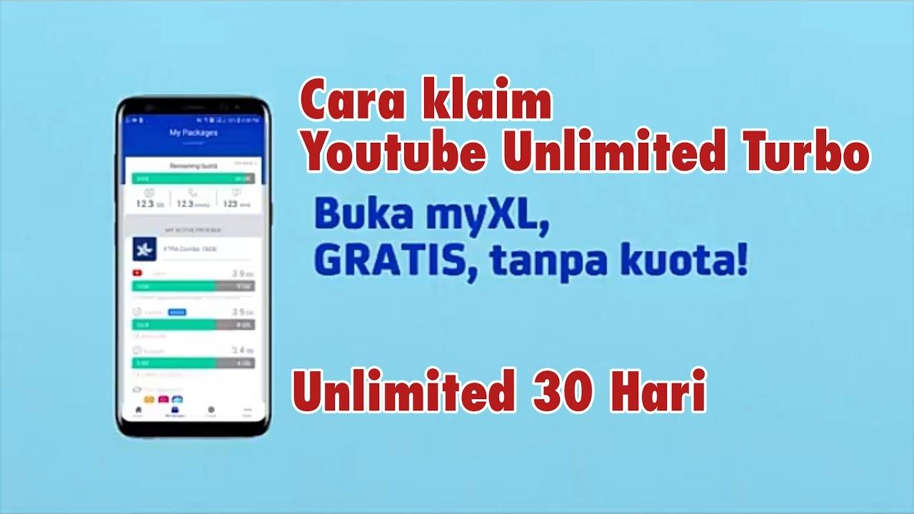 Cara Klaim Paket Unlimited Youtube Xl Youtube