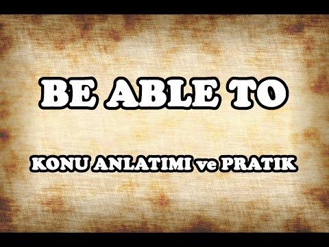 28 - Be Able To Konu Anlatımı ve Pratik - İngilizce Gramer