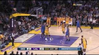 Lakers Highlights vs Thunder HD Game 5 2010 Playoffs Round 1