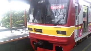 KRL Exs Tokyo Metro 05-101 berangkat Stasiun Citayam menuju Bogor