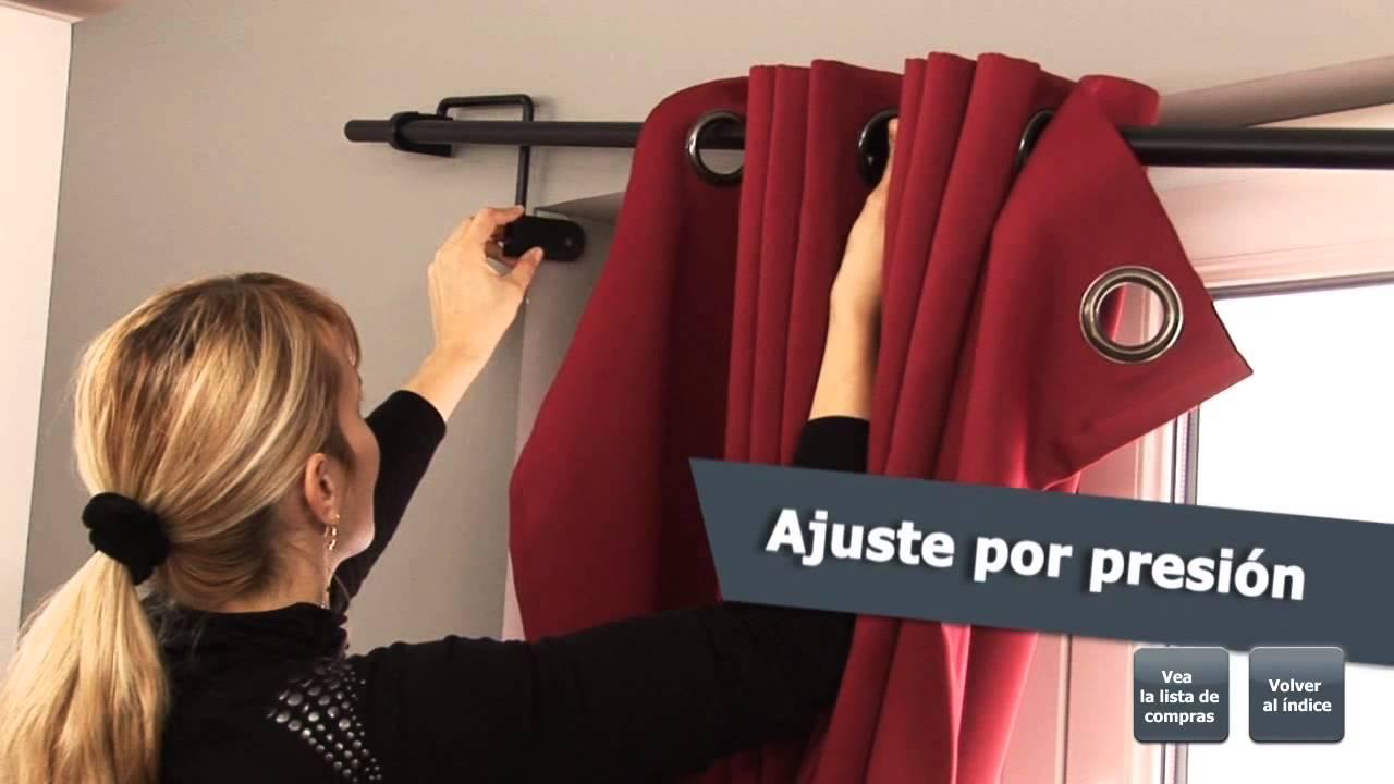 Barras de cortina para ventanas encastradas youtube - Ventanas con cortinas ...
