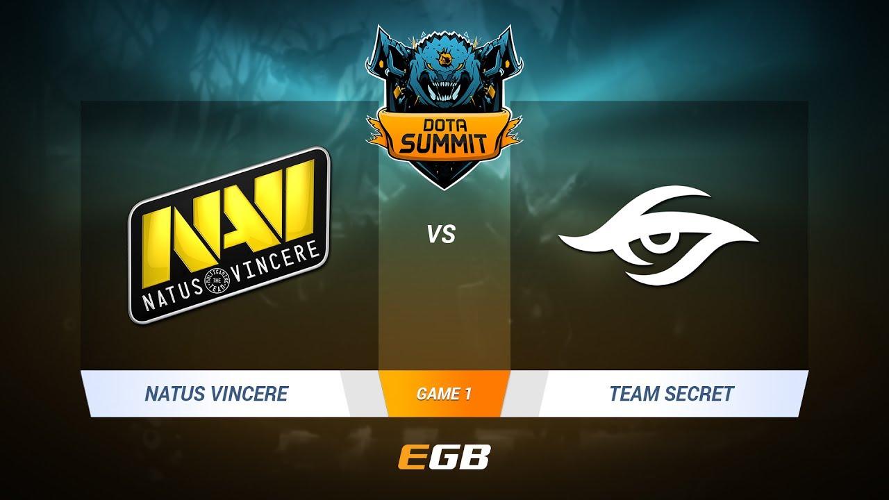 Natus Vincere vs Team Secret, Game 1, DOTA Summit 7 LAN-Final, Day 2