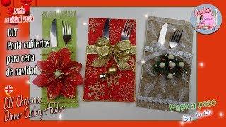 DIY  3 Porta cubiertos para cena de navidad