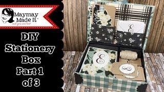 DIY Monogram Card and Tag Gift Set Part 1of 3