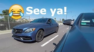 630hp Mercedes C63 AMG Thinks He's Faster LOL! thumbnail