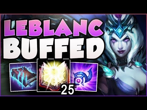 WTF.. RIOT 100% GAVE TOO MUCH BURST DMG TO NEW LEBLANC! LEBLANC TOP GAMEPLAY! - League of Legends