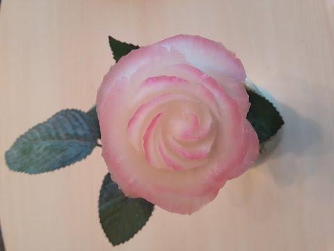 Carving Rose from Radish -Cách tỉa hoa Hồng từ củ cải-從水果雕花- Rose schnitzen aus rettich-.