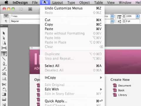 how to create a table in indesign cs5.5