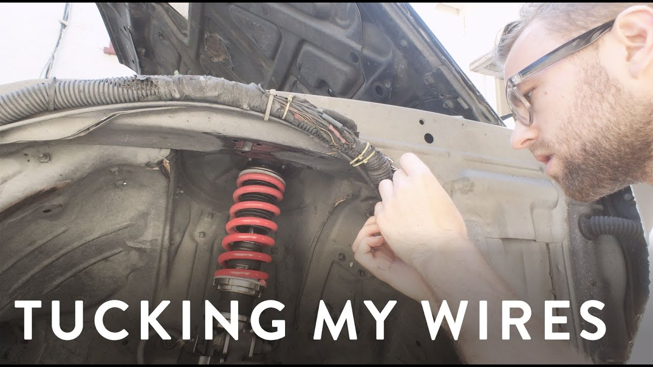 maxresdefault tucking my wiring harness on my s14 240sx youtube s14 wire harness tuck at webbmarketing.co
