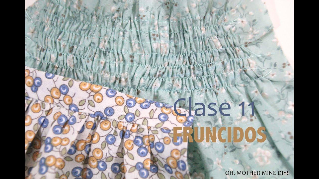 Clase de costura 11. Aprender a hacer y coser fruncidos - YouTube