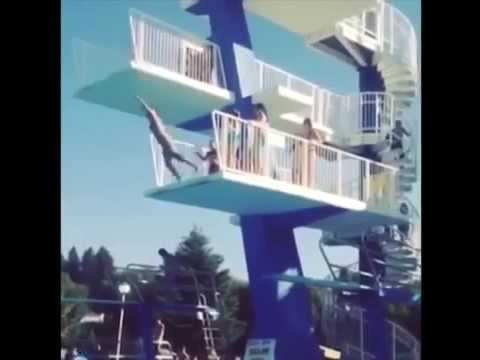 High Dive Gone Wrong! This Is Pain In ( Slow Motion)